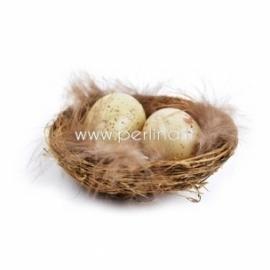 Lizdas su kiaušiniais, 7 cm, 1 vnt.