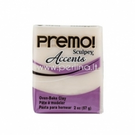 "Premo Sculpey Accent ""White Translucent"", 57g."