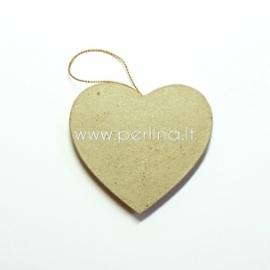 """Kartoninė dekoracija """"Širdutė"""", 7,5x7 cm, 1 vnt."""