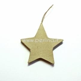 "Kartoninė dekoracija ""Žvaigždė"", 8,3x8,5 cm, 1 vnt."