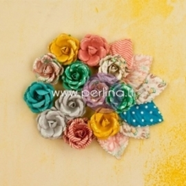 "Popierinės gėlytės ""Bloom Collection - Radiant Petals"", 18 vnt."