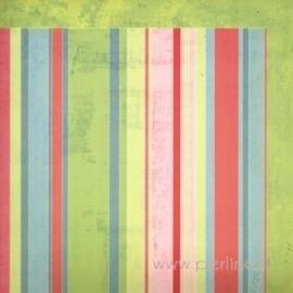 "Popierius ""Summer Stripe Lime"", 30,5x30,5 cm"