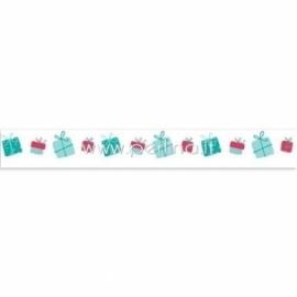 """Lipni popierinė juostelė """"Presents"""", 8 m"""