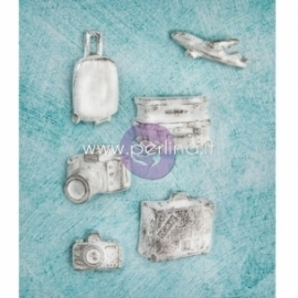 "Dek.detalės ""Resin Embellishments - Shabby Chic Treasures - Explore"", 6 vnt."