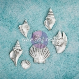"Dek.detalės ""Resin Embellishments - Shabby Chic Treasures - Sea Shells"", 7 vnt."