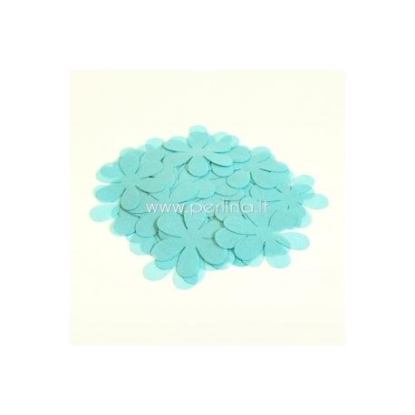 Medžiaginės gėlytės, šviesi turkio sp., 1 vnt., dydis pasirenkamas