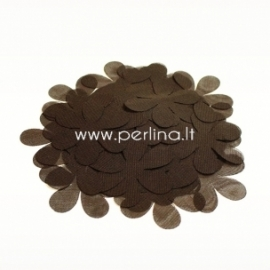 Medžiaginės gėlytės, tamsi ruda sp., 1 vnt., dydis pasirenkamas