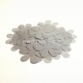 Medžiaginės gėlytės, šviesiai pilka sp., 1 vnt., dydis pasirenkamas