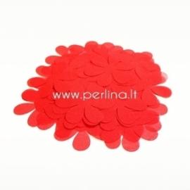 Medžiaginės gėlytės, raudona sp., 1 vnt., dydis pasirenkamas