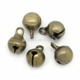 """Pakabukas """"Kalėdinis varpelis"""", ant. bronzos sp., 9x6 mm"""