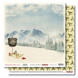 "Popierius ""Sleigh Rides - That Special Time of Year Collection"", 30,5x30,5 cm"