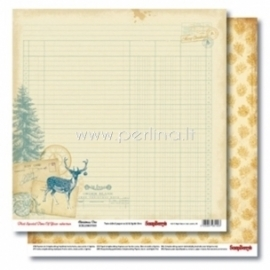"Popierius ""Christmas Doe - That Special Time of Year Collection"", 30,5x30,5 cm"