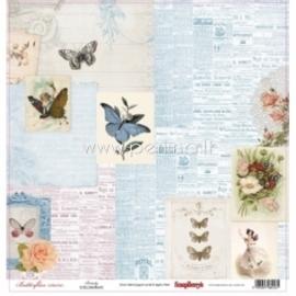 """Popierius """"Beauty - Butterflies Collection"""", 30,5x30,5 cm"""