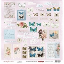 "Popierius ""Happiness - Butterflies Collection"", 30,5x30,5 cm"