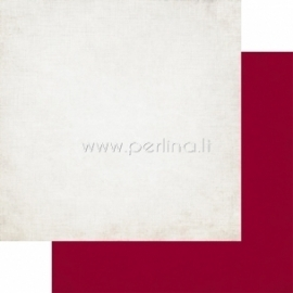 "Popierius ""Cream-Red Distressed Solid - Getaway Collection"", 30,5x30,5 cm"