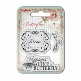 "Akrilinis antspaudas ""Butterflies Nr.2"", 3 vnt"