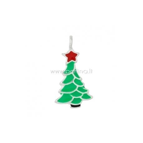 """Pakabukas """"Kalėdinė eglutė"""", 20x11 mm"""