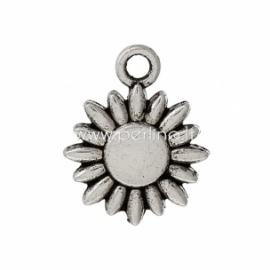 """Pakabukas """"Saulėgrąža"""", ant. sidabro sp., 15x12 mm"""