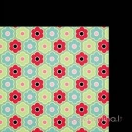 """Popierius """"Precious pansies"""", 30,5x30,5 cm"""