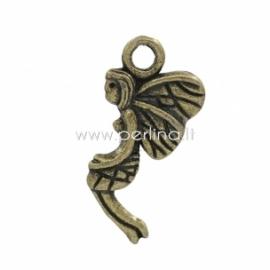 """Pakabukas """"Mergaitė Angelas"""", ant. bronzos sp., 19x9 mm"""