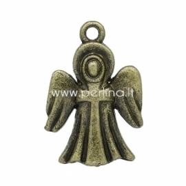 """Pakabukas """"Angelas su sparnais"""", ant. bronzos sp., 25x17 mm"""