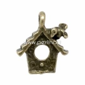 """Pakabukas """"Inkilėlis"""", ant. bronzos sp., 15x13 mm"""