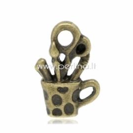 """Pakabukas """"Pieštukinė"""", ant. bronzos sp., 19x13 mm"""