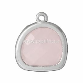 Pakabukas su sint. rožiniu kvarcu, 13x12 mm