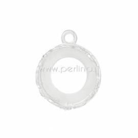 Pakabukas - rėmelis, pasidabruotas, 18x14 mm