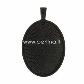 Pakabukas - rėmelis, juodos sp., 39x25 mm