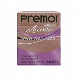 "Premo Sculpey Accent ""Rose Gold Glitter"", 57g."