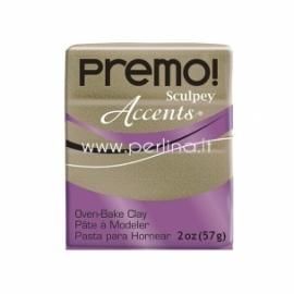 "Premo Sculpey Accent ""Yellow Gold Glitter"", 57g."