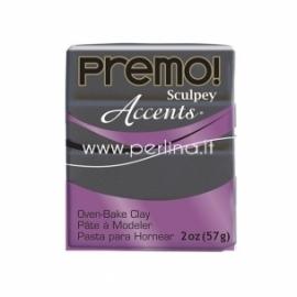 """Premo Sculpey Accent """"Graphite Pearl"""", 57g."""