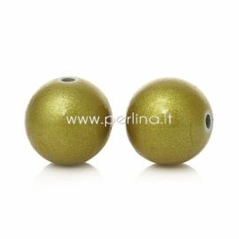 Akrilinis karoliukas, aukso sp., 12 mm, 1 vnt.