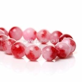 Marmurinis nefritas, rožinės-raudonos sp., 8 mm