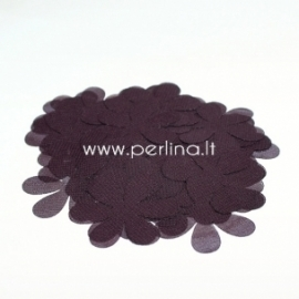 Medžiaginės gėlytės, tamsi bordo su violetiniu atspalviu, 1 vnt., dydis pasirenkamas