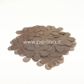 Medžiaginės gėlytės, šviesi ruda sp., 1 vnt., dydis pasirenkamas