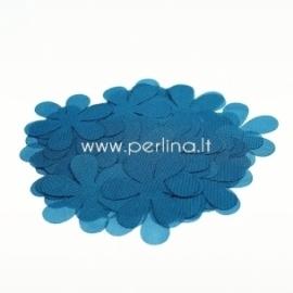 Fabric flower, aqua blue, 1 pc, select size