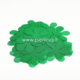 Fabric flowers, green, 1 pc, select size