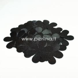 Medžiaginės gėlytės, juoda sp., 1 vnt., dydis pasirenkamas