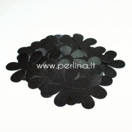Fabric flowers, black, 1 pcs, select size