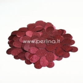 Fabric flowers, burgundy, 1 pc, select size