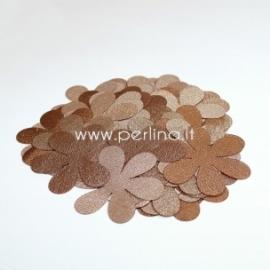 Medžiaginės gėlytės, šviesiai ruda/auksinė sp., 1 vnt., dydis pasirenkamas