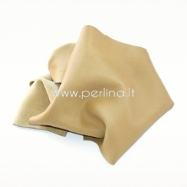 Natūralios karvės odos atraižos, žalsvai kreminė sp., 200 g.