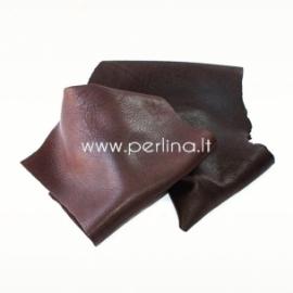 Natūralios karvės odos atraižos, tamsiai ruda sp., 200 g.