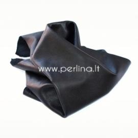 Natūralios karvės odos atraižos, juoda sp., 200 g.