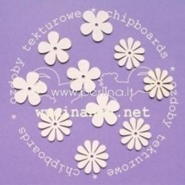 """Chipboard """"Flowers"""", 10 pcs"""