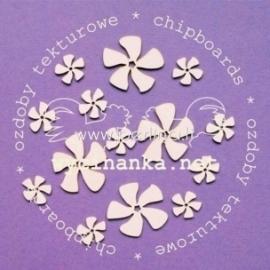 "Chipboard ""Flowers, No 2"", 14 pcs"