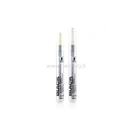 "Tūbelė dažams su antgaliu ""Black Empty Marker 3 Chisel"", 3 mm, 6 ml"