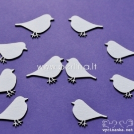 """Kartoninė detalė """"Meilės laiškas - paukščiai"""", 10 vnt."""